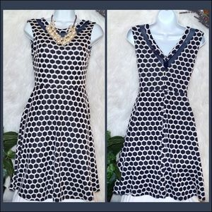 Pixley Navy Honeycomb Dress